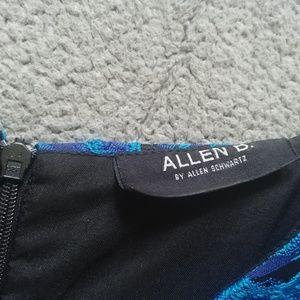 Allen B. By Allen Schwartz Dresses - Fit & Flare Blue/Indigo Brocade Dress